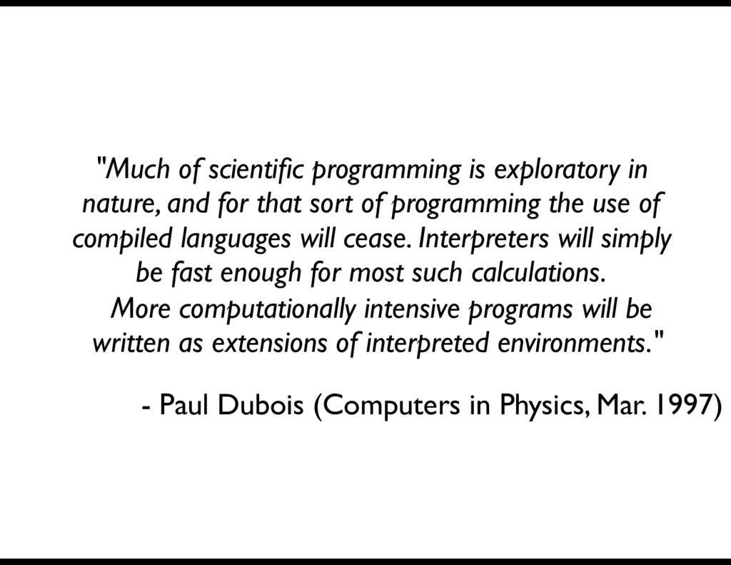 More computationally intensive programs will be...