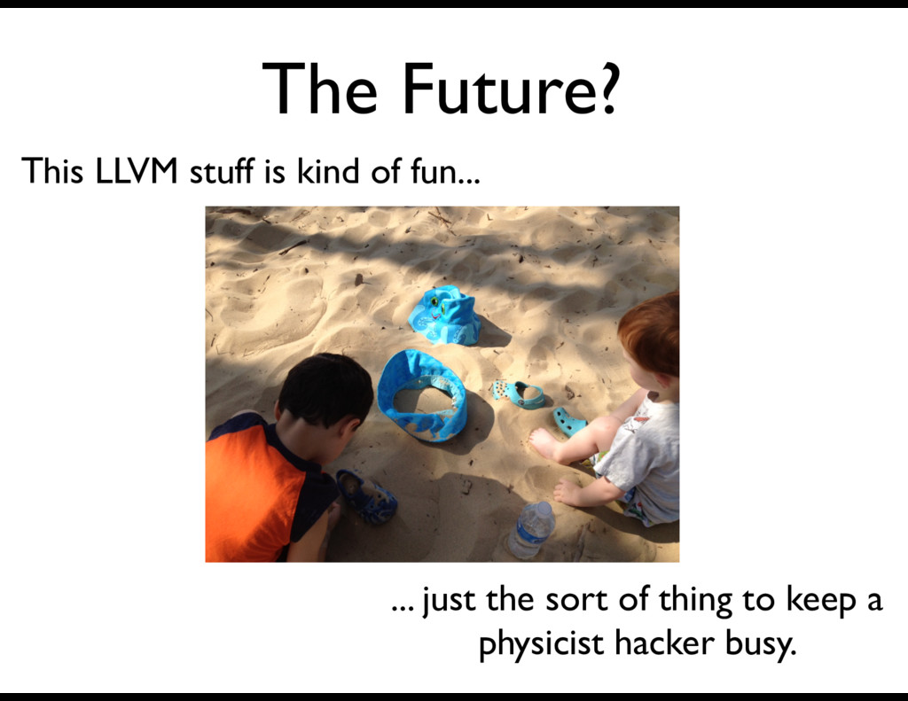 The Future? This LLVM stuff is kind of fun... ....