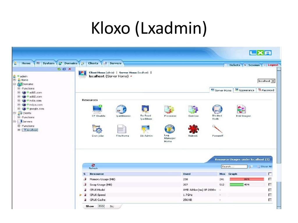 Kloxo (Lxadmin)