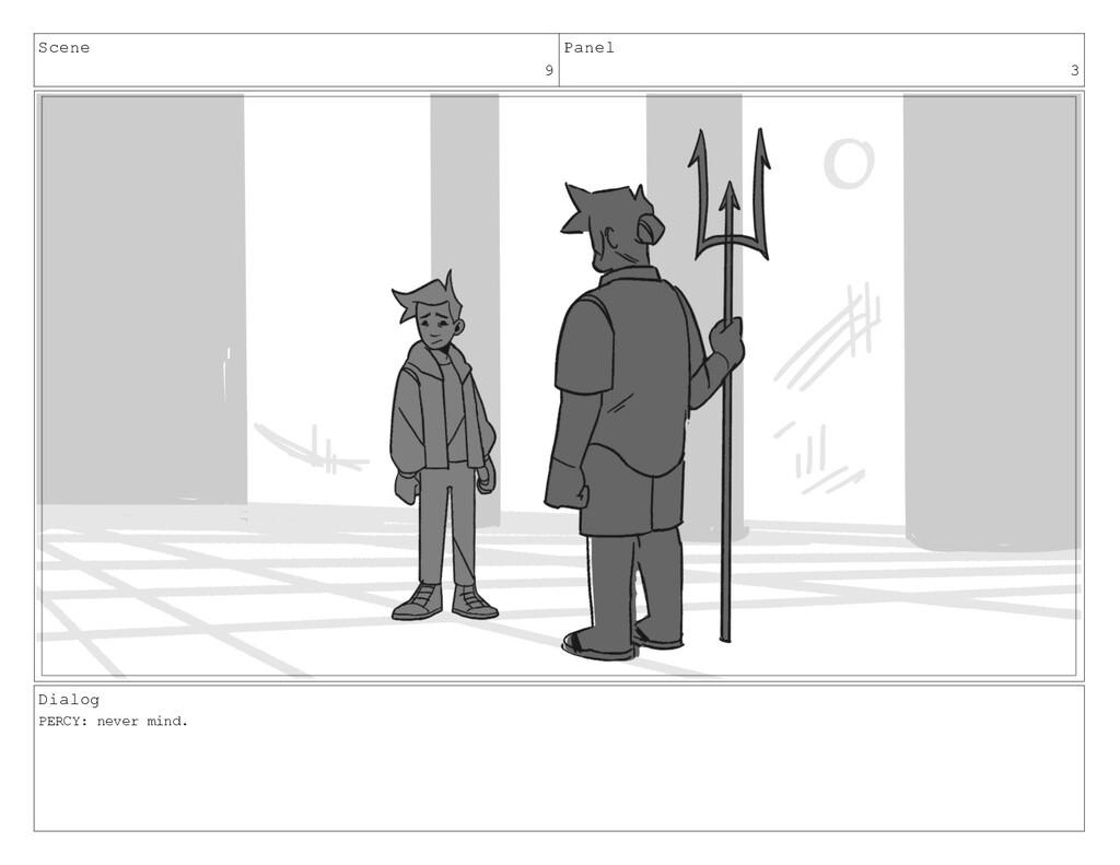 Scene 9 Panel 3 Dialog PERCY: never mind.
