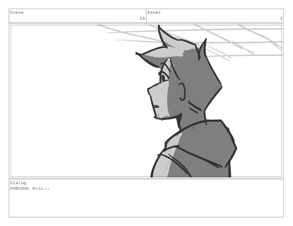 Scene 14 Panel 3 Dialog POSEIDON: Still...