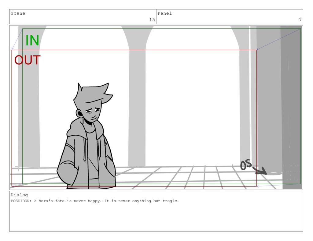 Scene 15 Panel 7 Dialog POSEIDON: A hero's fate...