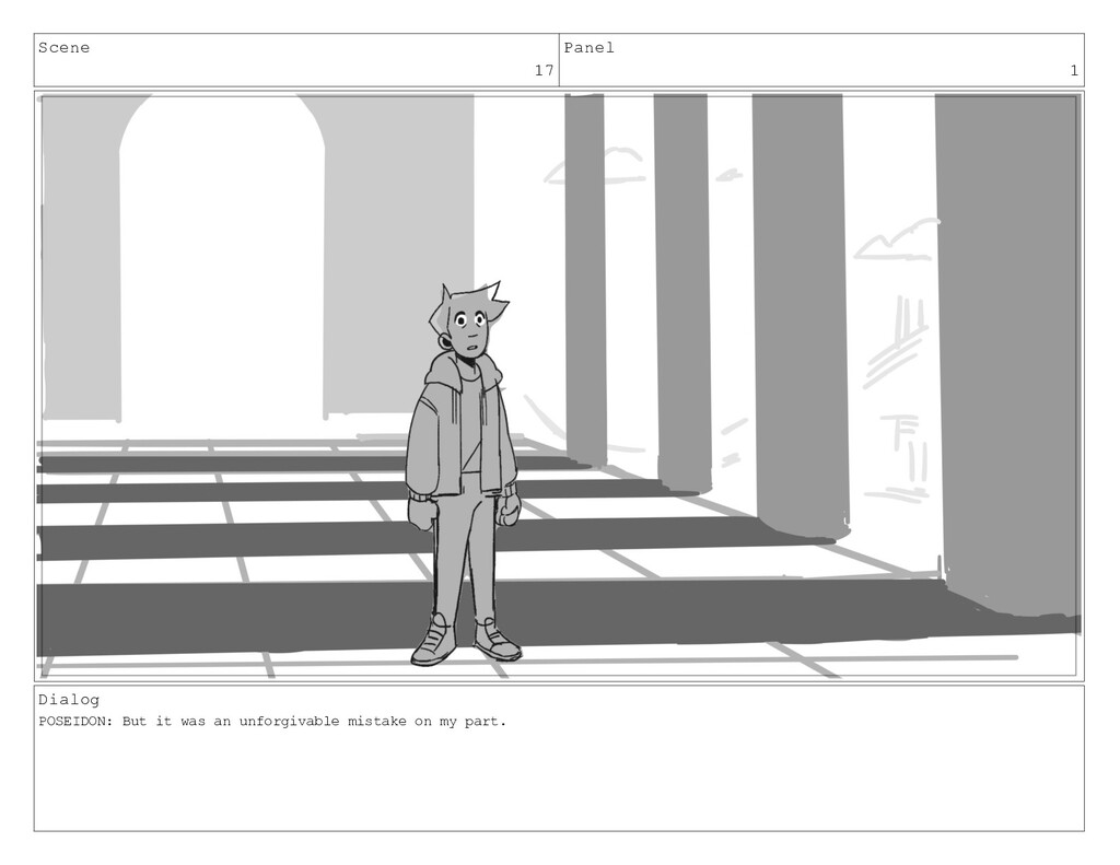Scene 17 Panel 1 Dialog POSEIDON: But it was an...