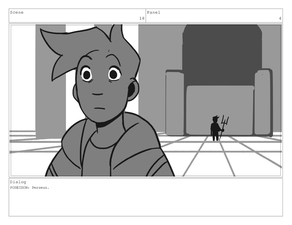 Scene 18 Panel 4 Dialog POSEIDON: Perseus.