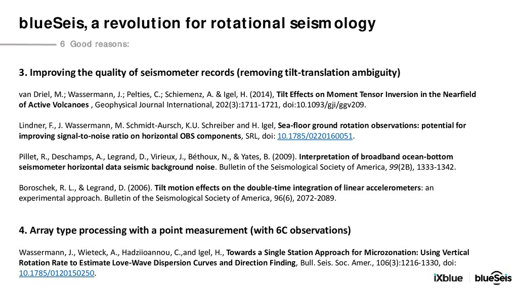 3. Improving the quality of seismometer records...