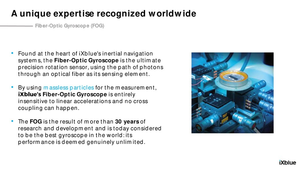A unique expertise recognized worldwide Fiber-O...