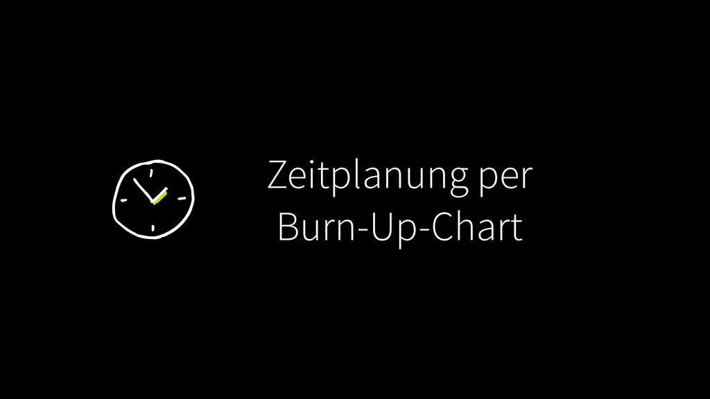 Zeitplanung per Burn-Up-Chart