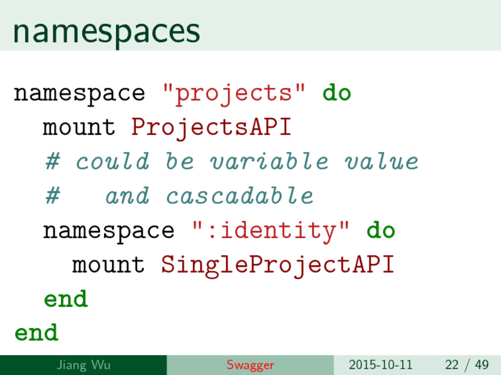 """namespaces namespace """"projects"""" do mount Projec..."""