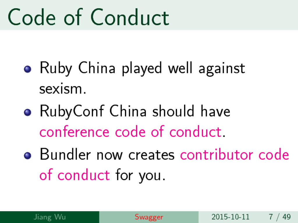 Code of Conduct Ruby China played well against ...