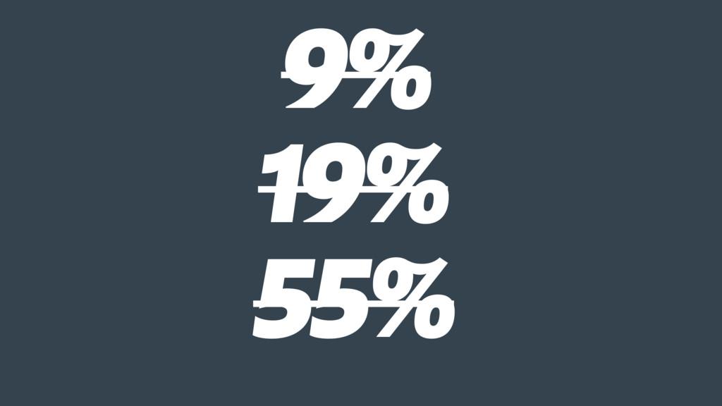 9% 19% 55%