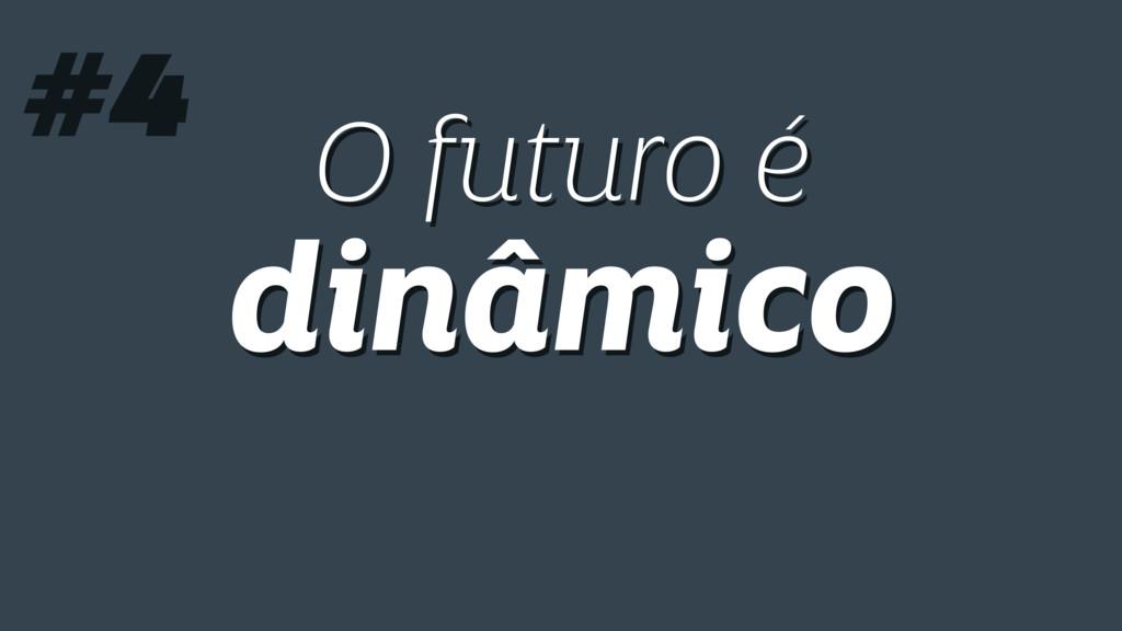 O futuro é dinâmico O futuro é dinâmico #4
