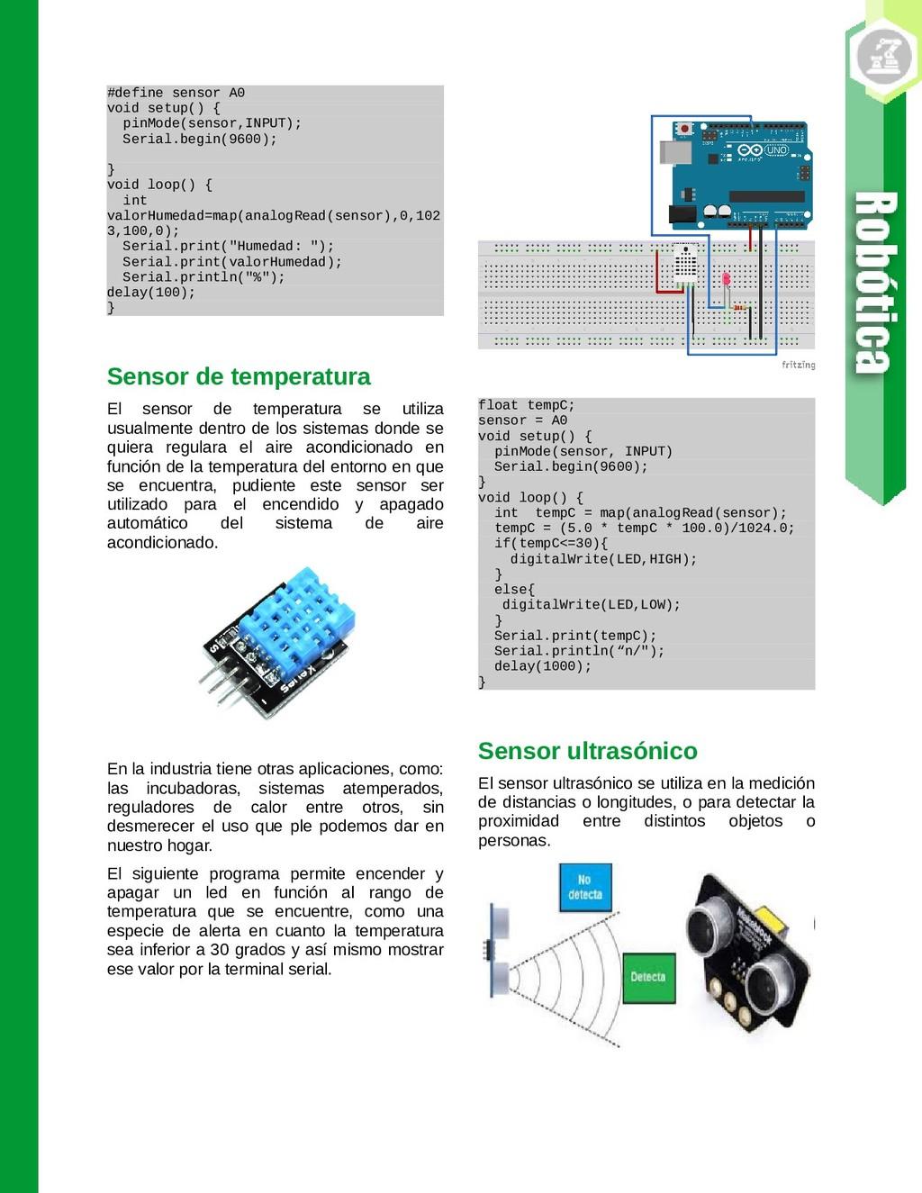 #define sensor A0 void setup() { pinMode(sensor...