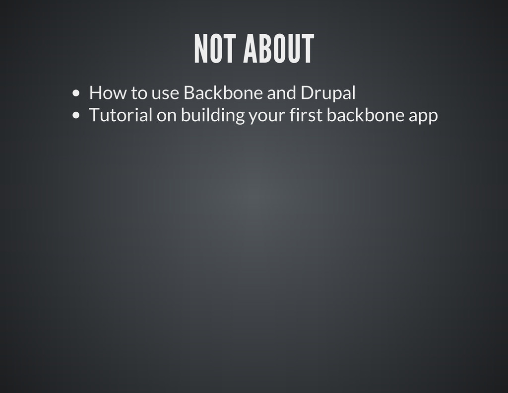 How to use Backbone and Drupal Tutorial on buil...