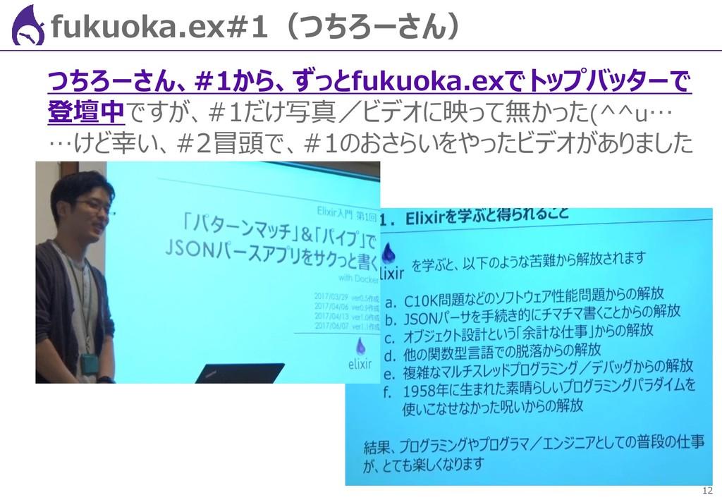 12 fukuoka.ex#1(つちろーさん) つちろーさん、#1から、ずっとfukuoka....