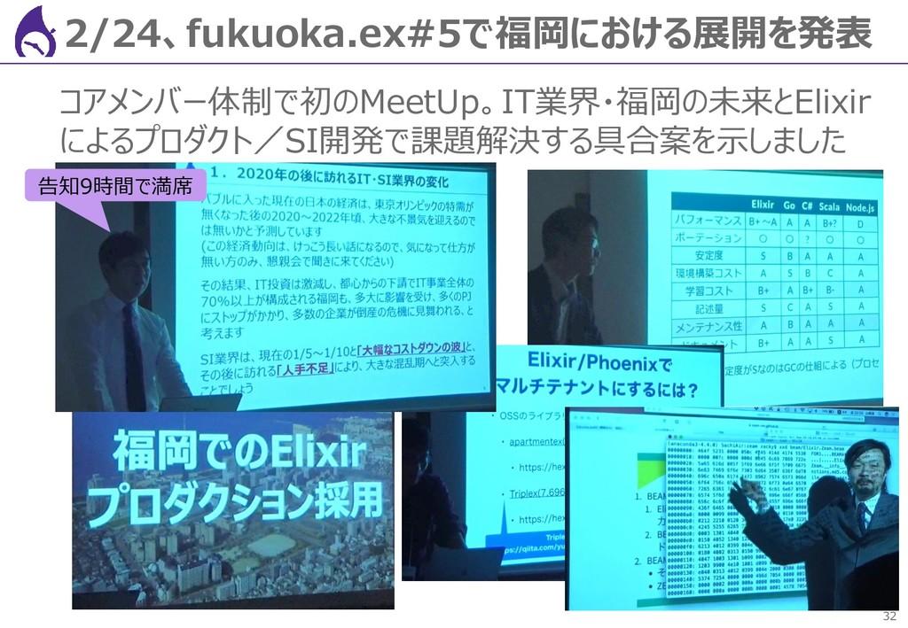 32 2/24、fukuoka.ex#5で福岡における展開を発表 コアメンバー体制で初のMee...