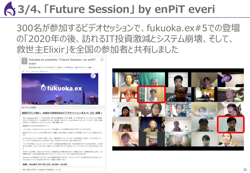 38 3/4、「Future Session」 by enPiT everi 300名が参加す...
