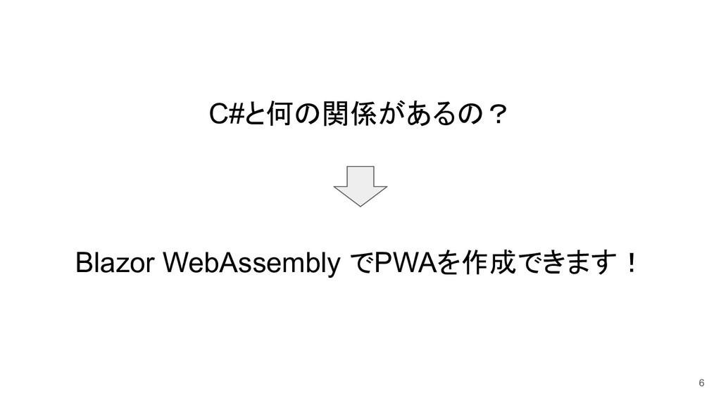 C#と何の関係があるの? Blazor WebAssembly でPWAを作成できます! 6