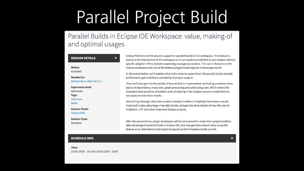 Parallel Project Build