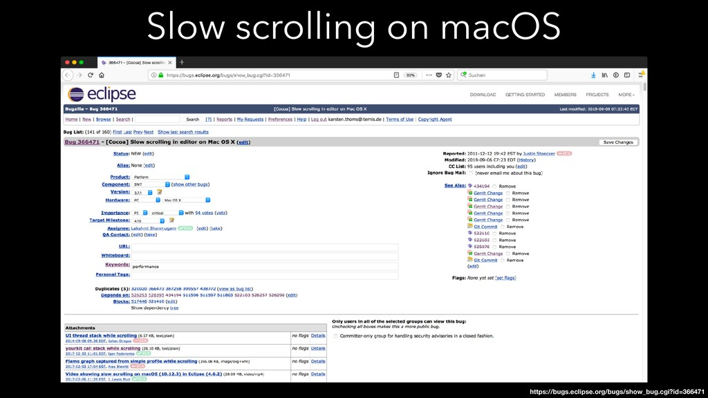 Slow scrolling on macOS https://bugs.eclipse.or...