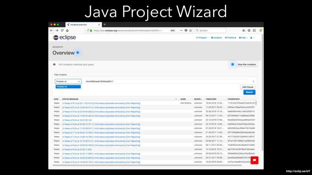 Java Project Wizard http://eclip.se/eY