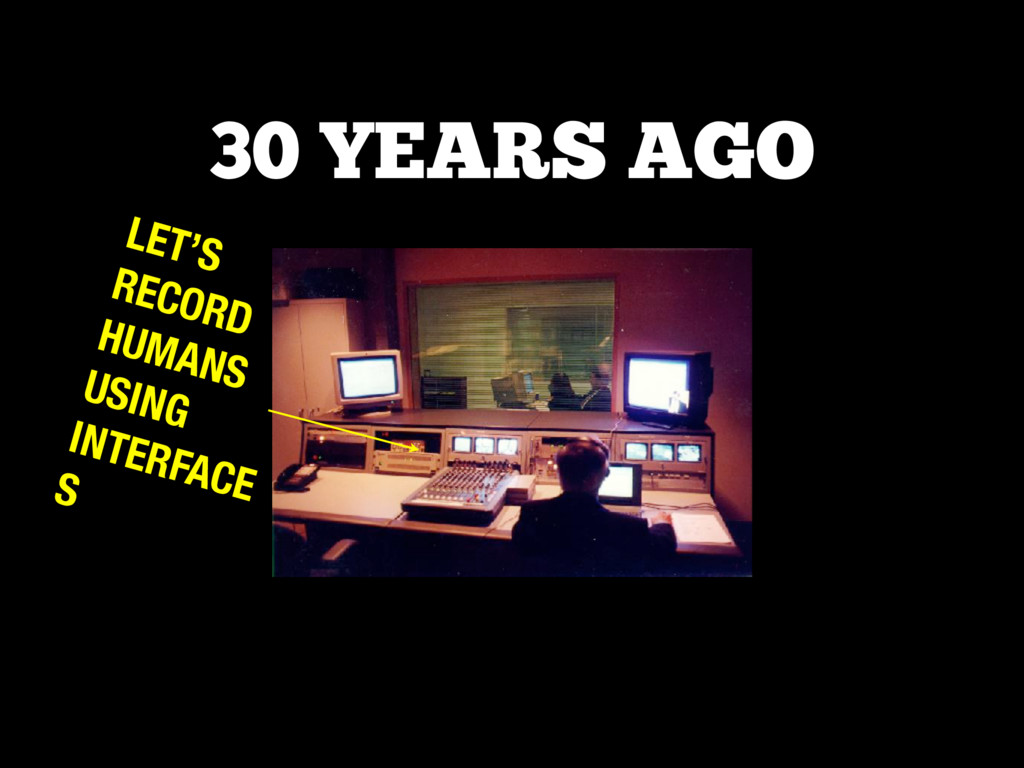 LET'S RECORD HUMANS USING INTERFACE S 30 YEARS ...