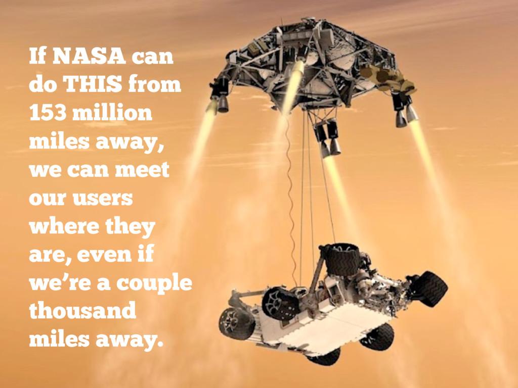 If NASA can do THIS from 153 million miles away...