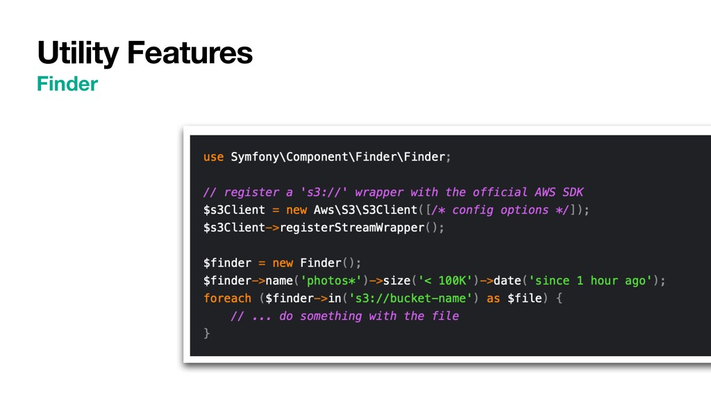 Utility Features Finder