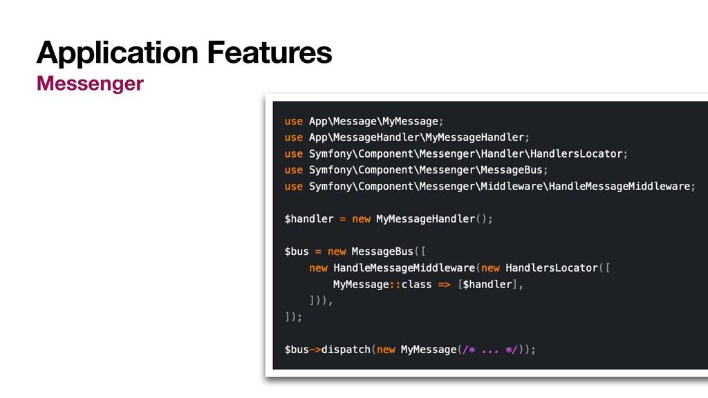 Application Features Messenger