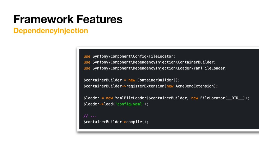 Framework Features DependencyInjection