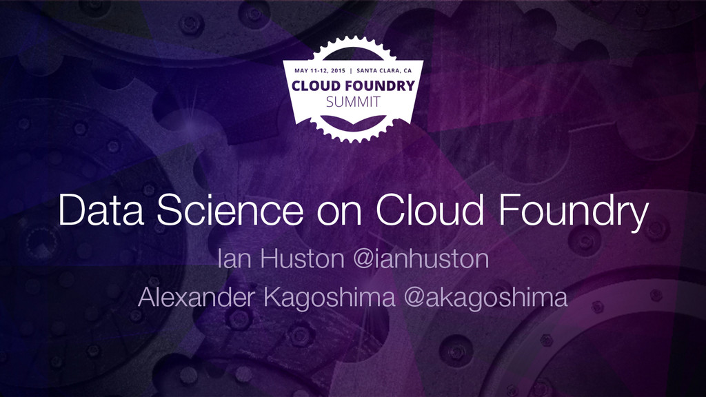 Data Science on Cloud Foundry