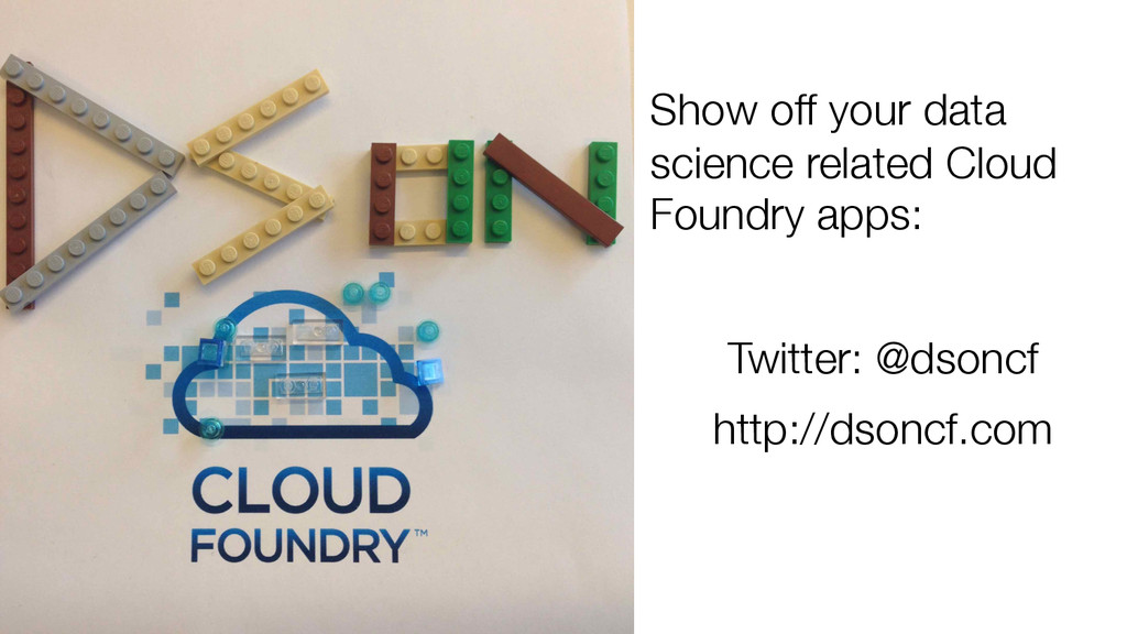 Show off your data science related Cloud Foun...