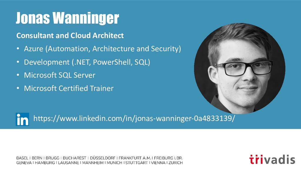 Jonas Wanninger Consultant and Cloud Architect ...