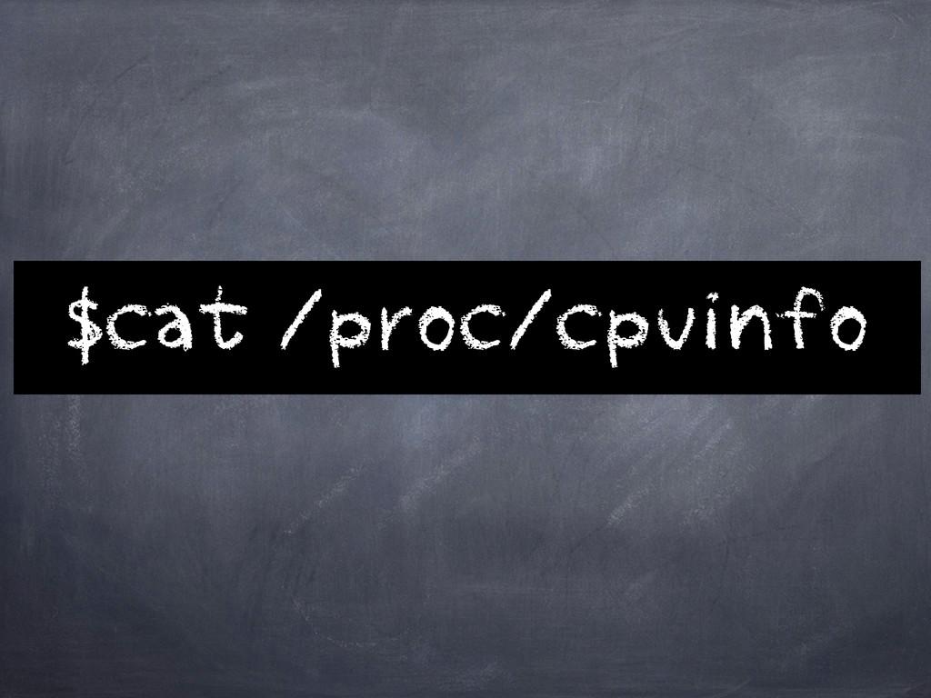 $cat /proc/cpuinfo