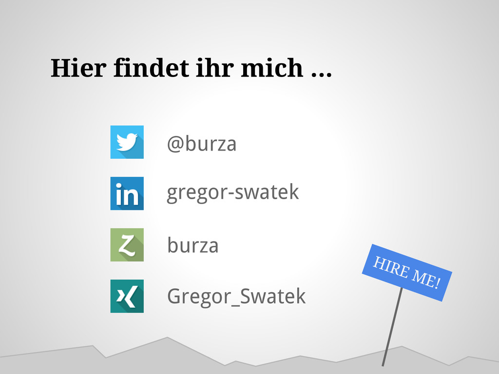 Hier findet ihr mich ... @burza gregor-swatek b...