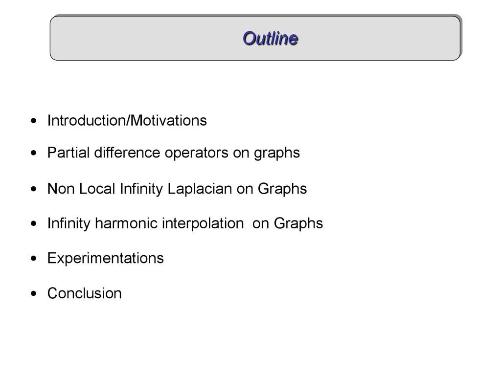Outline • Introduction/Motivations • Partial ...