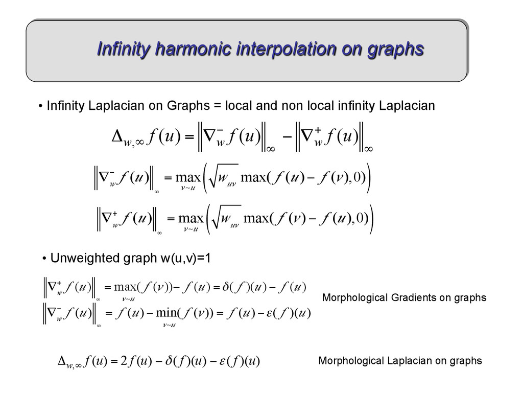 • Infinity Laplacian on Graphs = local and non...