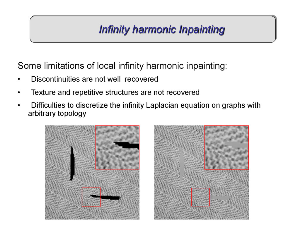 Some limitations of local infinity harmonic inp...