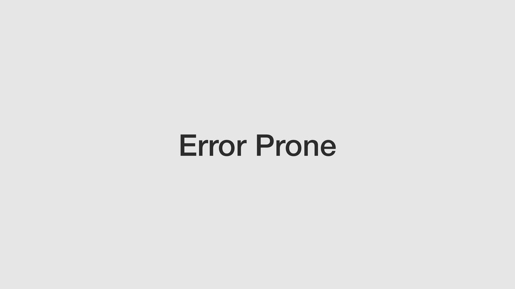 Error Prone