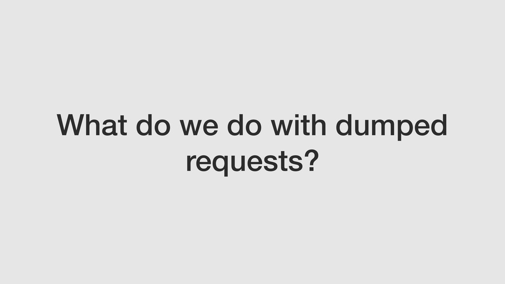 What do we do with dumped requests?