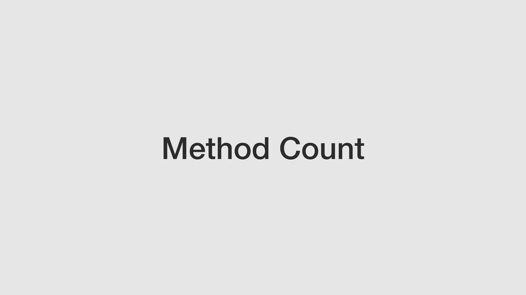 Method Count