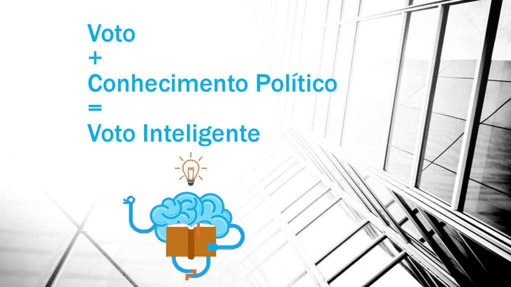 Voto + Conhecimento Político = Voto Inteligente