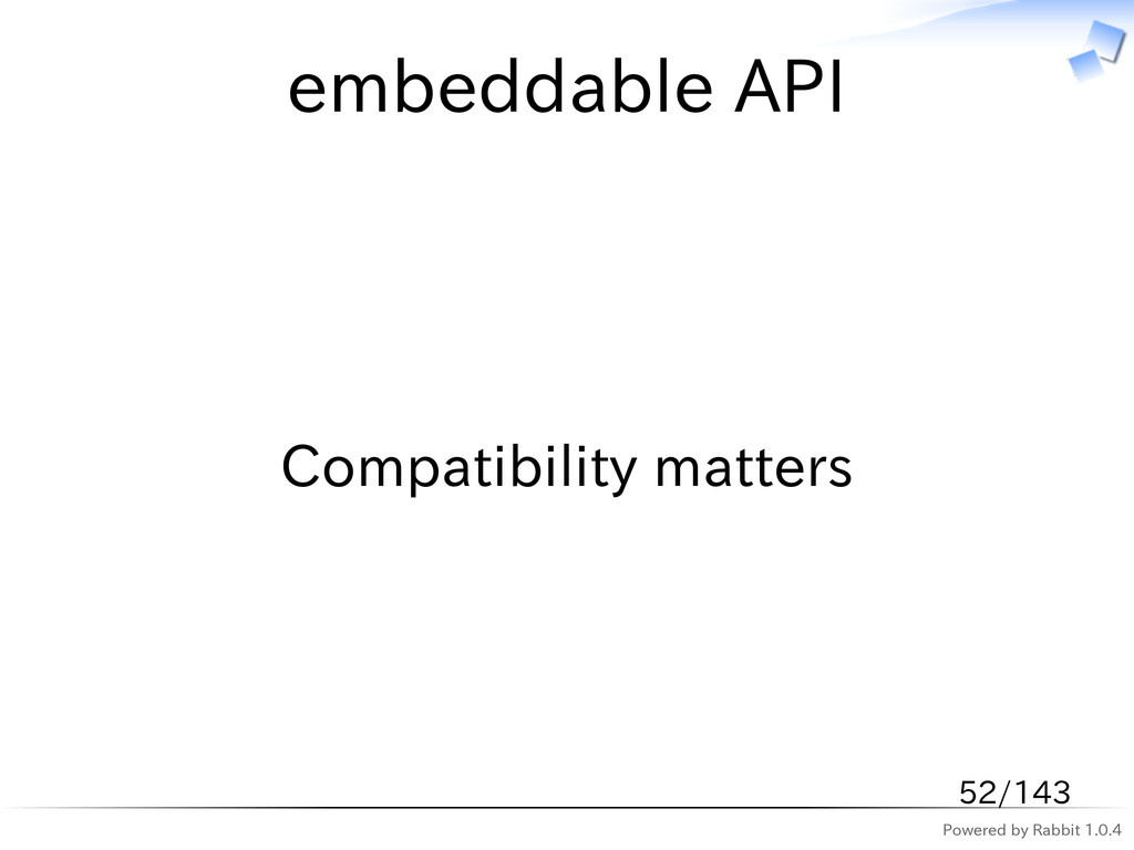 Powered by Rabbit 1.0.4 embeddable API Compatib...