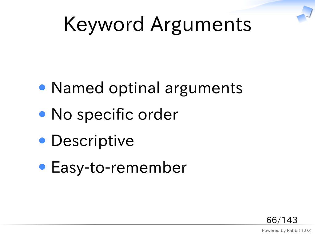 Powered by Rabbit 1.0.4 Keyword Arguments Named...
