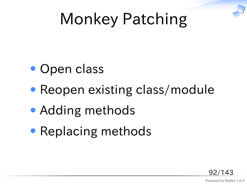 Powered by Rabbit 1.0.4 Monkey Patching Open cl...
