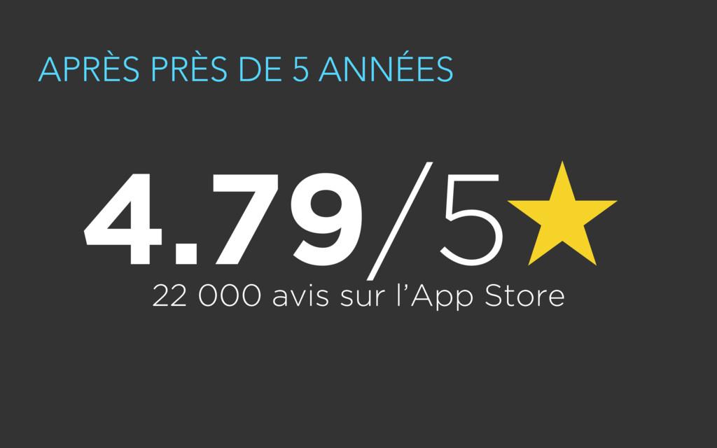 APRÈS PRÈS DE 5 ANNÉES 22 000 avis sur l'App St...