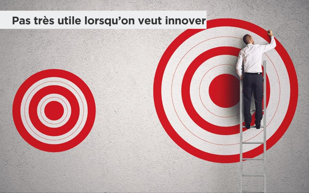 Pas très utile lorsqu'on veut innover