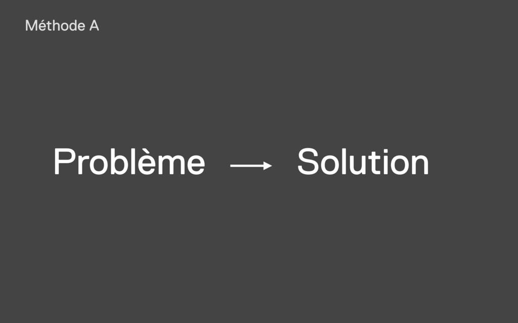 Problème Solution Méthode A