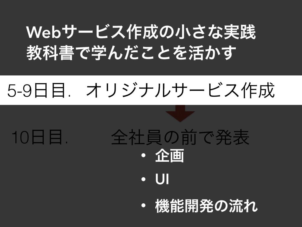 ΦϦδφϧαʔϏε࡞ શࣾһͷલͰൃද 5-9. 10. • اը • UI • ػ...