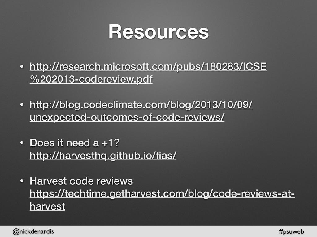 @nickdenardis #psuweb Resources • http://resear...