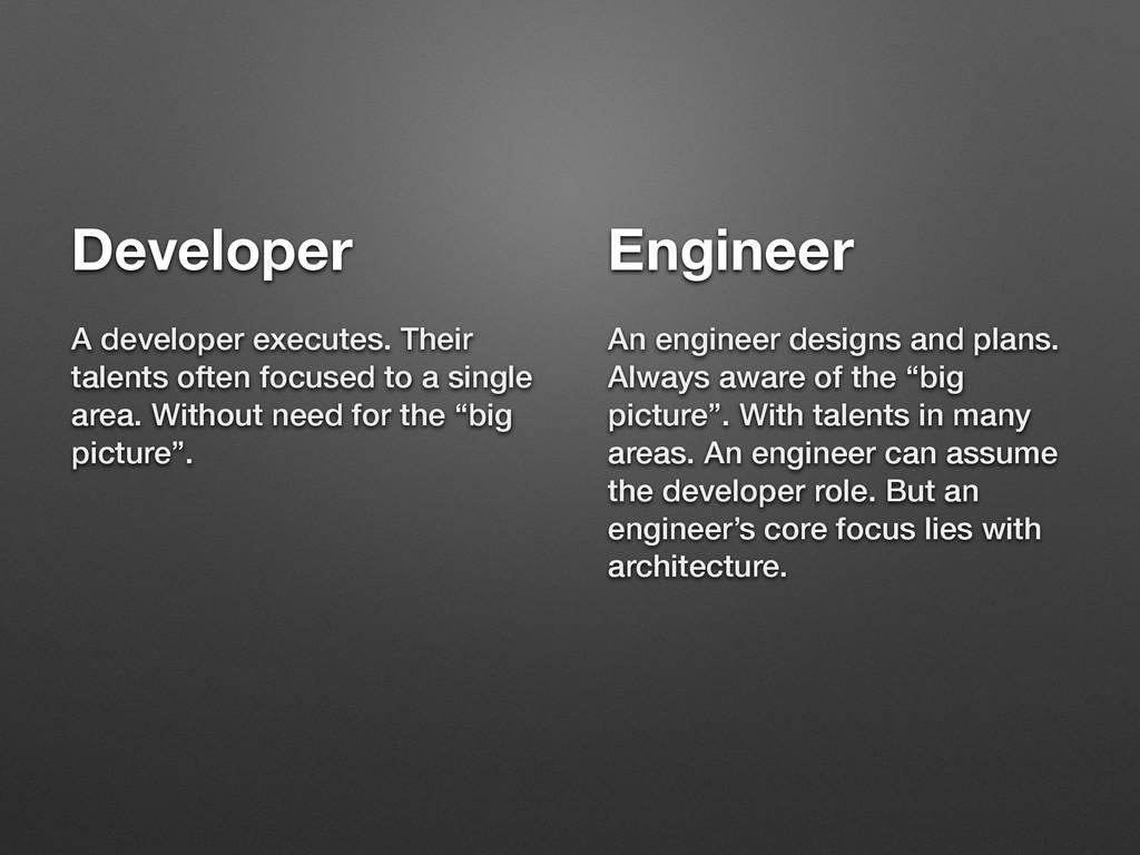 Developer A developer executes. Their talents o...